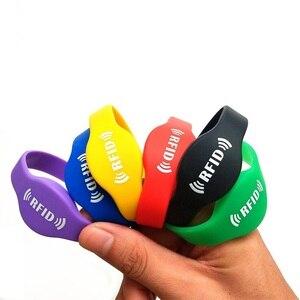 Image 1 - 125khz EM4305 RFID Wristband Bracelet Rewritable ID Card for Swimming Pool Sauna Room