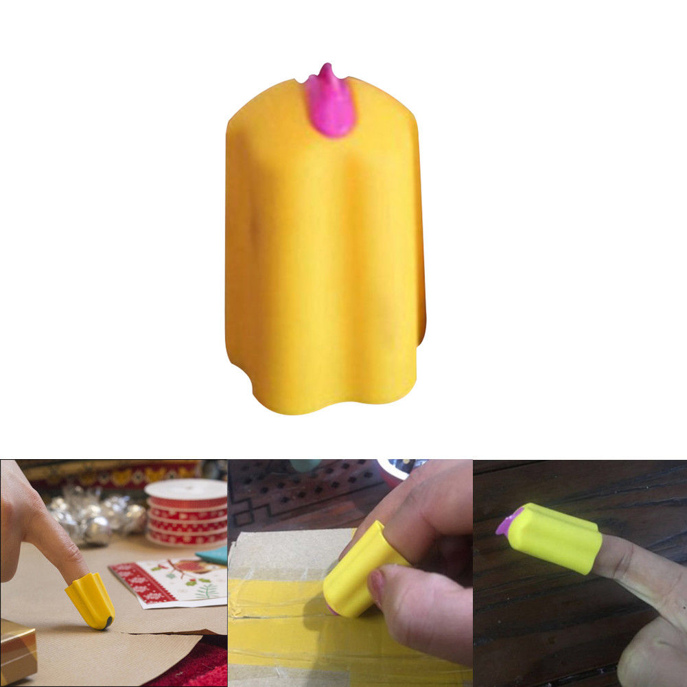 Safety Finger Cutter Utility Knife Safety Home Durable Silicone Office Package Letter Parcel Opener Carton Quick Kitchen Tools