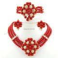 jewelry set best quality african big  jewelry sets wedding costume jewellery african bead jewelry women necklace