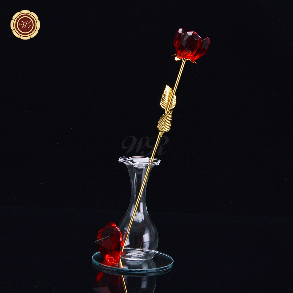 Aliexpress Com Buy Wr Romantic Rose 24k Gold Dipped: Online Buy Wholesale Crystal Rose Gift From China Crystal