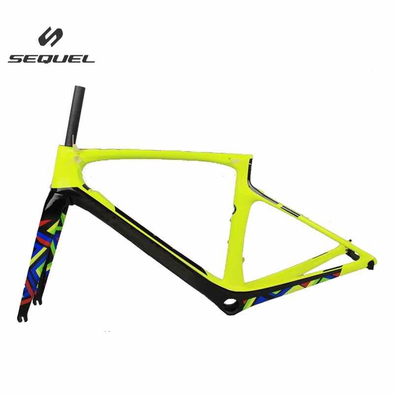 Carbone vélo de route cadre T1000 2017 nouveau modèle 47/49/52/54/56 cm Feuille LOGO carbone cadre de la bicyclette avec DI2 trou