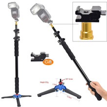 "DEEKARL Aluminum Alloy Handheld 1/4"" Grip 158cm Rig Support Rod Flash Light Speedlite Holder, Monopod Stand Base w/ 3/8"" screw"