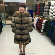 2016 New Arrivals fashion raccoon fur coat women's fur coat to keep warm Free shipping lengthened