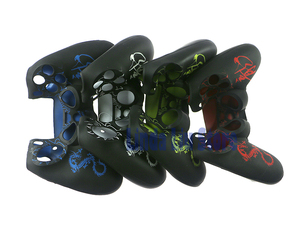 Image 3 - Joystick antideslizante con diseño de dragón, funda de silicona suave para mando de la PS4, protección de la piel de goma, 2 unids/lote