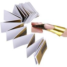 100 ШТ. Ногтей Гелем Расширение Стикер Nail Art Профессиональные Акриловые Ногтей Формы