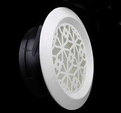 100 мм круглое стенное вентиляционное отверстие бычий нос вытяжка для ванной комнаты выход сетки-решетки крепление на потолок, на стену вент...