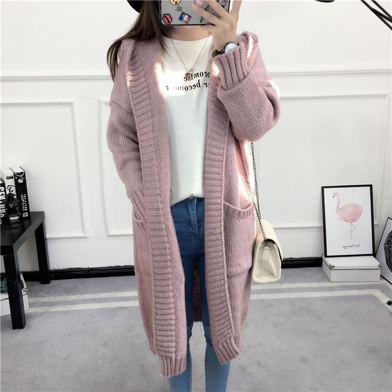 HTB1fa45SVXXXXaBXXXXq6xXFXXXJ - Women Long Knitted Sweater Coat Hooded Sweater Cardigans JKP039