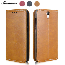 Фотография Lamocase Luxury Genuine Leather For Lenovo Vibe S1 Leather Case Flip Book For Lenovo S1 Lite S60 S90 Phone Cover With Soft Shell