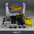 Assembly model Car AMG GT Model building Kit 1:24 Assembly Model Alloy Toy Vehicle DIY Block Car Model Toy For Gift Collection