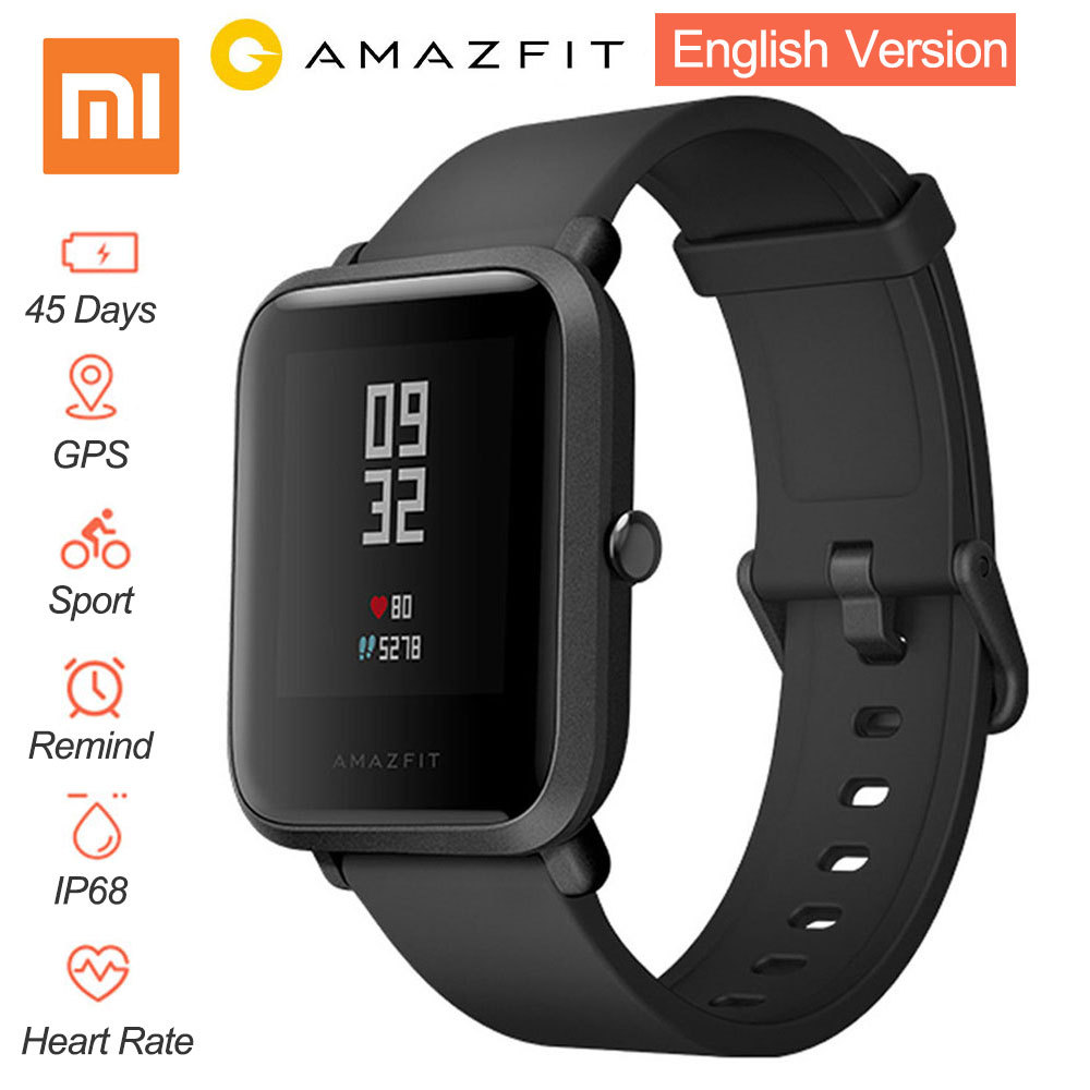 [English Version] Xiaomi Huami Amazfit Bip BIT PACE Lite Youth Mi Fit IP68 Waterproof Glonass Smart Watch+GPS English Language
