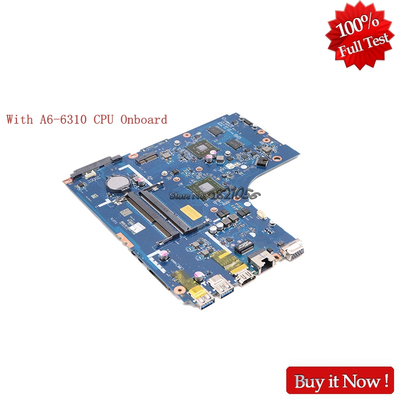 Nokotion For Lenovo B50-45 ZAWBA/BB LA-B291P Laptop Motherboard With A6-6310 CPU Onboard цена