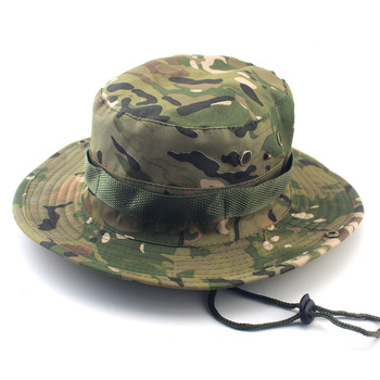 Military Camouflage Boonie Hat High Quality Outdoor Bucket Hats Hunting Hiking Fishing Climbing ARMY MULTICAM HAT 26 Colors AE1 2