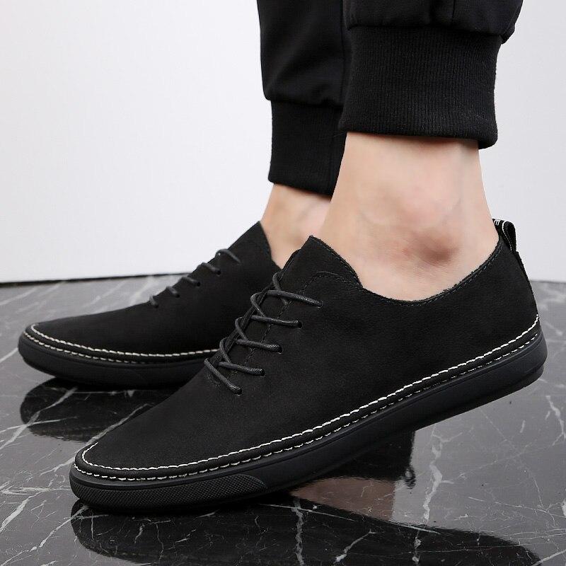 Black Saison Homme De Jeunes Étudiants Rétro À Pour Chaussure En Cuir Véritable Compensées Chaussures Grande Hommes gray Décontracté 2019 Urbaine Taille Mode Quatre Semelles lcKJ1F