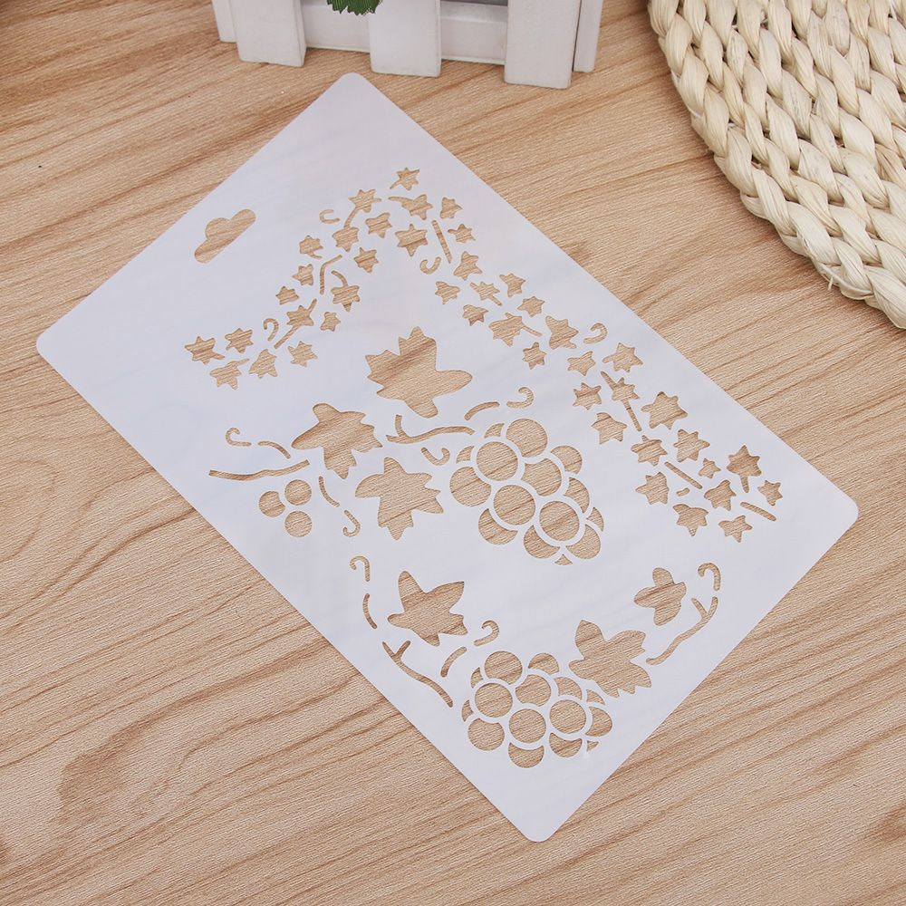 Grape Vine Leaf Reusable Stencil Airbrush Painting Art Cake Spray Mold DIY Decor Crafts For Walls