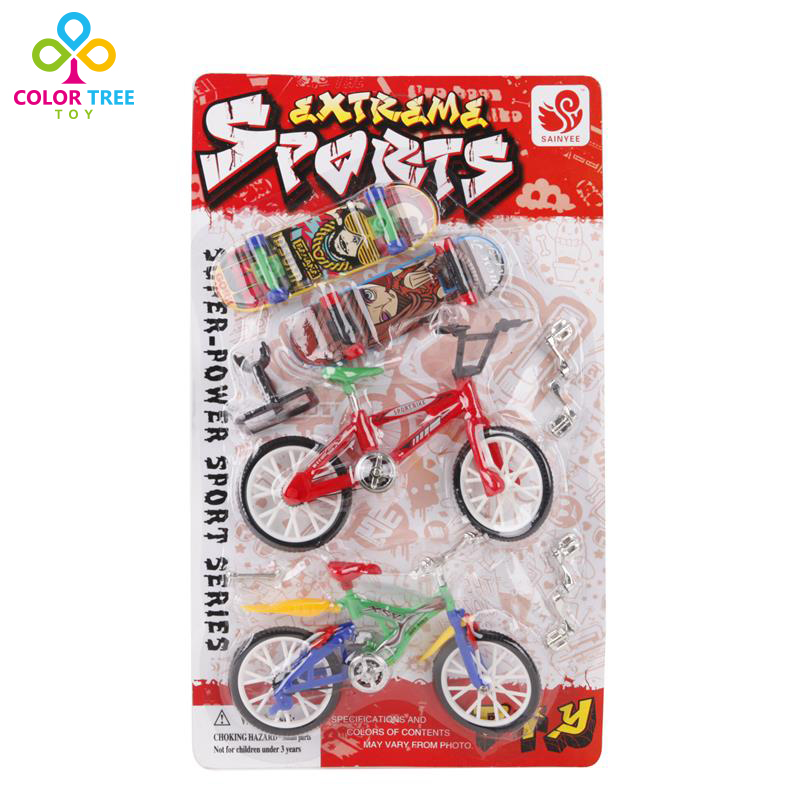 Kids Toys 2 Mini Bicycles 2 Mini Skateboards Finger Game Funny Toys Learning Educational Toys For Children