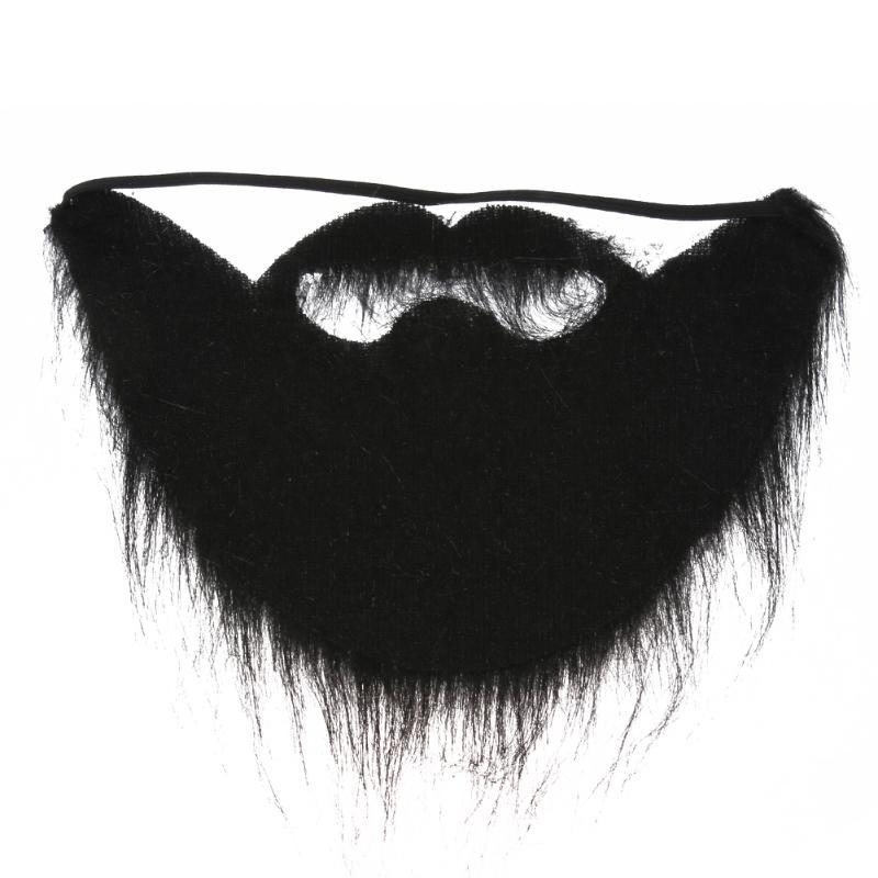 1pcs Fake Beard Halloween Costume Party Moustache Mustache Funny Halloween Party Black Facial Hair Costume Cosplay Party Masks in Party Masks from Home Garden