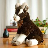 Real Life Plush Animals Kids Toys Birthday Present Caucasian Goat Doll Toy Gifts Decoration