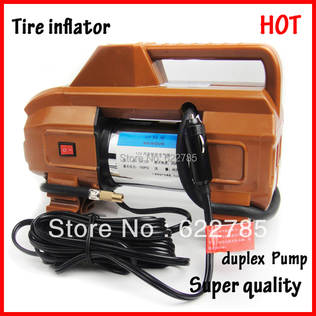 Tire Inflator  car air pump Metal double Cylinder duplex pump  vaporised pump air compressors Pure Copper Core High quality