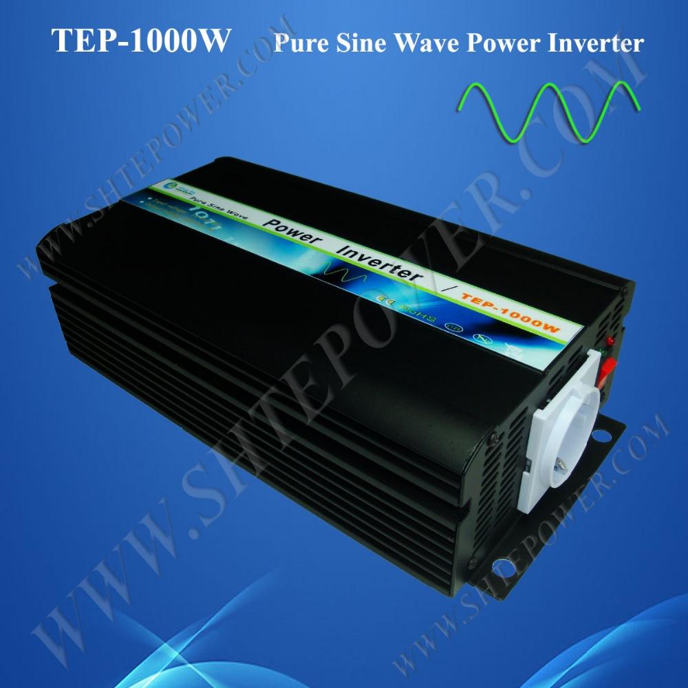CE inverter 1000W dc ac pure sine for solar panel and wind generator, Free Shipping!converter dc 12V 24V inverter