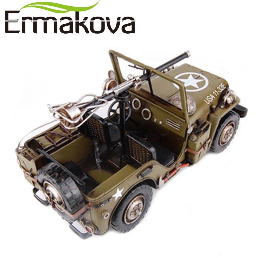 Ermakova Handmade Handicrafts Craft Retro Metal Car Willis Military
