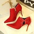 Zapatos de las mujeres las mujeres Bombas de Tacón Alto Con Lentejuelas Sexy Moda poited toe Zapatos de Las Señoras Negro rojo Zapatos Mujer