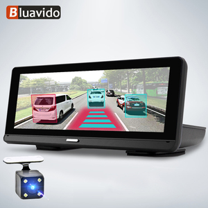 """Image 1 - Bluavido 8 """"Android 4G araba dvrı kamera GPS Navigasyon ADAS FHD 1080P araba video kaydedici Gece Görüş WiFi uzaktan kontrol monitörü Dash kamera"""