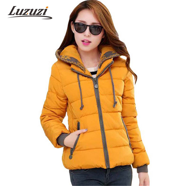 Women winter jackets and coats hooded cotton padded parka short slim wadded outwear casaco feminino abrigos mujer Invierno WS235