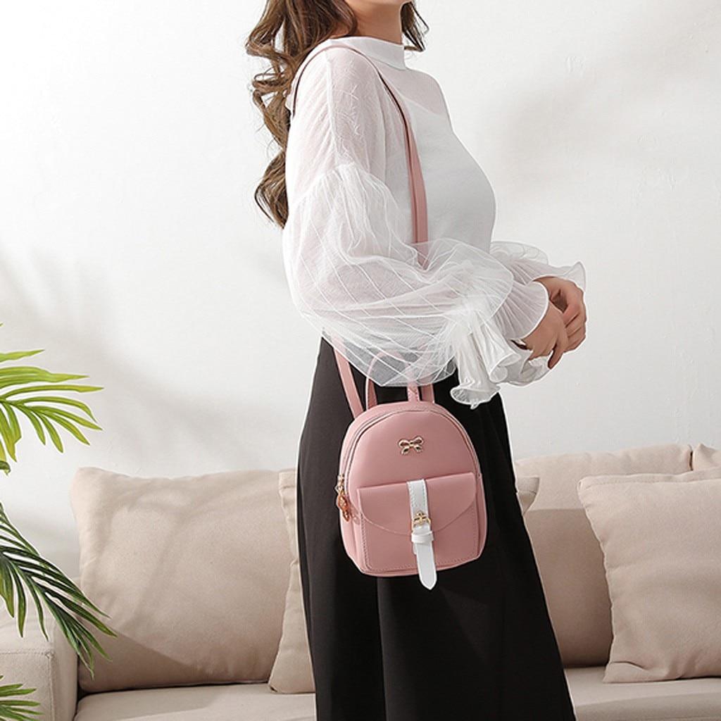 HTB1fa5INhnaK1RjSZFtq6zC2VXaz Convenient fashion Travel Fashion Lady Shoulders Small Backpack Letter Purse Mobile Phone mochilas Canta
