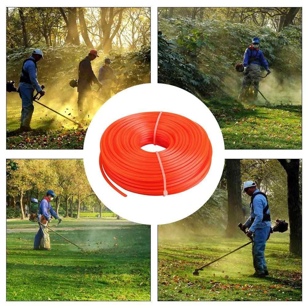 3 мм газонокосилка триммер линия нейлоновая веревка проволока круглая квадратная Поворотная форма струна бензиновый триммер садовые инструменты длина 70 м