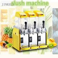 free ship 220v 36L Hot type triple cylinder slush machine cold drink machine,fruit juice dispenser beverage Cool beverage maker