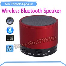 10Pcs/lot Wireless Bluetooth Speaker Portable Speaker Music Player Home Audio for iPhone iPad ipod Samsung HTC BlackBerry Phone