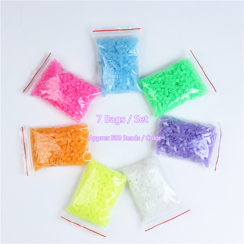 7 Colors 3500Pcs 5mm Luminous Hama Beads Toy for children Brinquedos 500PCS/Bag Perler Beads 3D Puzzle Fuse Bead Jigsaw Puzzle7 Colors 3500Pcs 5mm Luminous Hama Beads Toy for children Brinquedos 500PCS/Bag Perler Beads 3D Puzzle Fuse Bead Jigsaw Puzzle