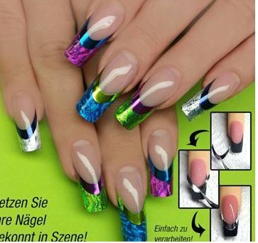 Love French Tips Glitter Nail Tip Designs