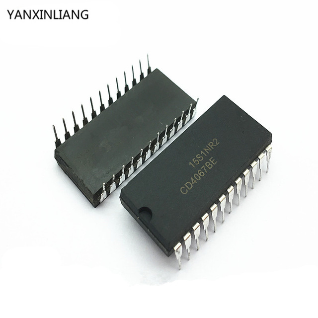 10pcs/lot <font><b>CD4067</b></font> CD4067BE DIP-24 IC best quality image
