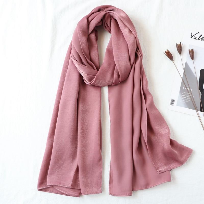 One piece solid plain malaysia high satin silk hijabs shinny hijab scarf islam shawl head wraps