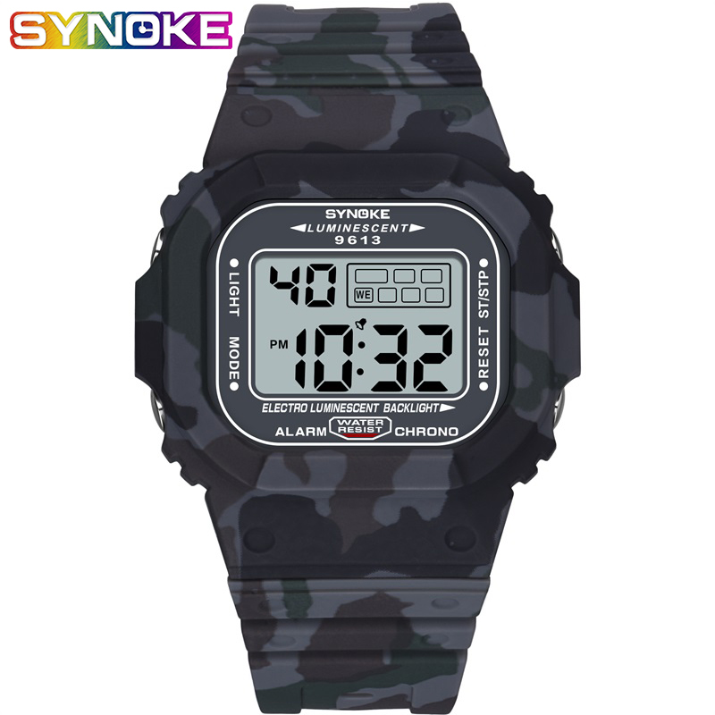SYNOKE Brand Digital Watch  Watch Men Relojes De Mano Para Hombre Cool Military Reloj Man Saat Erkek Men Watch