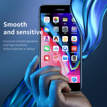 Baseus 0.3mm Thin Protective Glass For iPhone 7 8 6 6s Screen Protector 9H Full Coverage Tempered Glass For iPhone X XS MAX 2