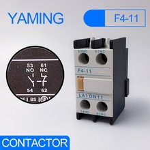 F4-11 Auxiliary contact CJX2 AC contactor supporting LA1-DN11 1NO+1NC auxiliary block for LC1-D series