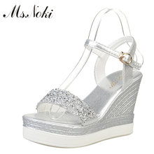 c31a614d6c Popular Silver Glitter Wedges-Buy Cheap Silver Glitter Wedges lots ...