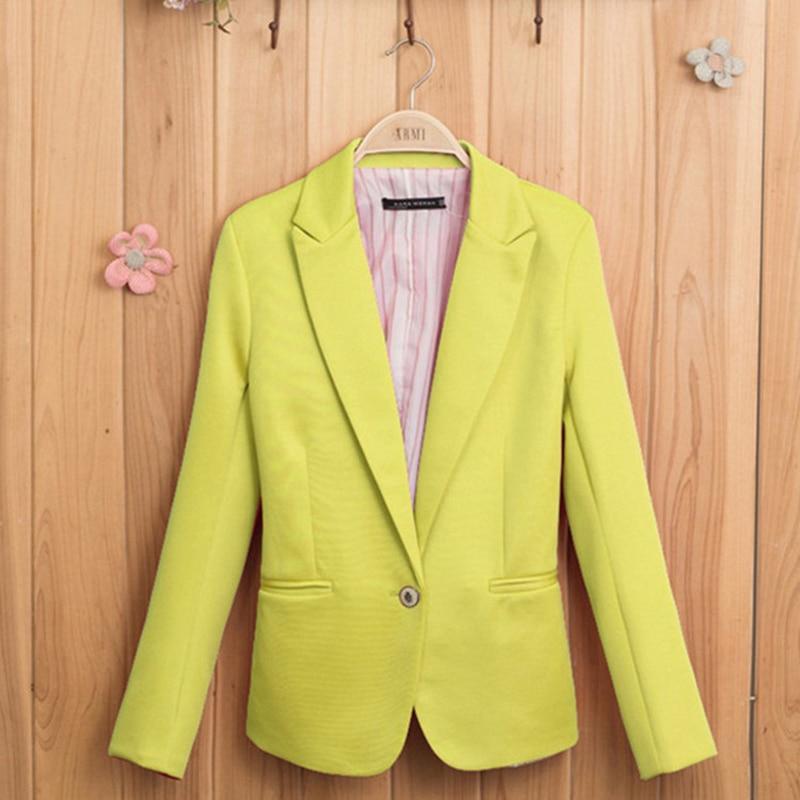 100% QualitäT Mode Jacke Blazer Femme Blazer Jacke Candy-farbige Frauen Anzug Lange Ärmel Mantel Gefüttert Mit Gestreiftem Single Button 2019 Neue Einfach Und Leicht Zu Handhaben Blazer Anzüge & Sets