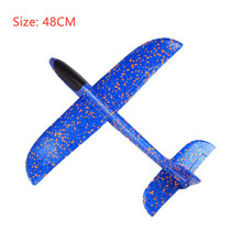 Big 48cm airplane model 2019 DIY Hand Throw Flying Glider Planes Children Plane Model Outdoor Fun Toys Plane Toys For Kids Game 36cm a380 resin airplane model united arab emirates airlines airbus model emirates airways plane model uae a380 aviation model