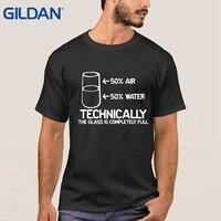 Bahar Sonbahar erkek tshirt Teknik Cam Tamamen Bilim Sarcasm otantik mavi tee gömlek 4XL O Boyun gömlek pamuk