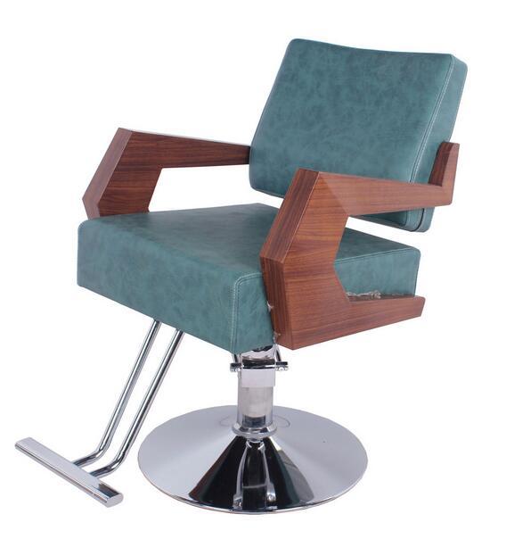 Salon De Coiffure Ddi Chaise Barbier Mains Courantes En Bois Attach La Plaque Transfert 975 Dans Chaises Meubles Sur AliExpress