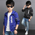 Kids Toddler Boys Sports Jacket Coat Hooded Jackets For Children Outerwear Clothing Autumn Winter Baby Boy Letter print Clothes