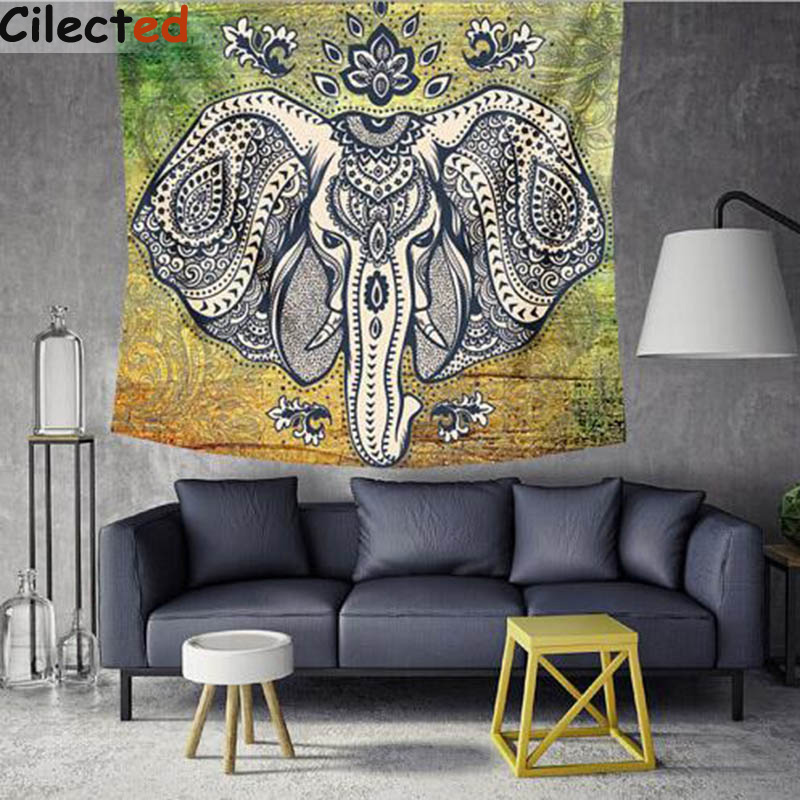 Elephant Tapestry Wall Hanging aliexpress : buy cilected elephant tapestry wall hanging