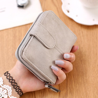 Nubuck Leather Women Short Wallets Ladies Fashion Small Wallet Coin Purse Female Card Wallet Purses Money