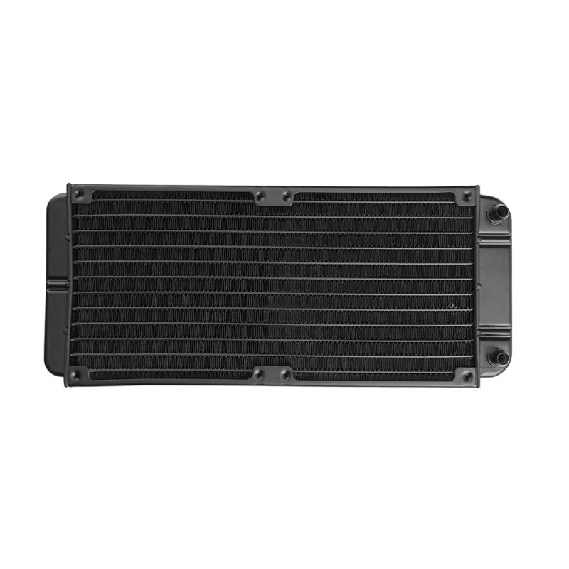 240mm 12-Tube Aluminum Computer Water Cooling Radiator Heat Exchanger for ID 8-10mm tubes for Laptop Desktop 240mm water cooling radiator g1 4 18 tubes aluminum computer water cooling heat sink for cpu led heatsink heat exchanger