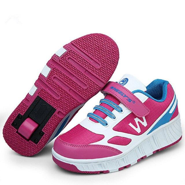 Kinderschoenen Maat 29.Maat 29 43 Nieuwe Heelys Wielen Schoenen Zapatos Con Ruedas Infantil