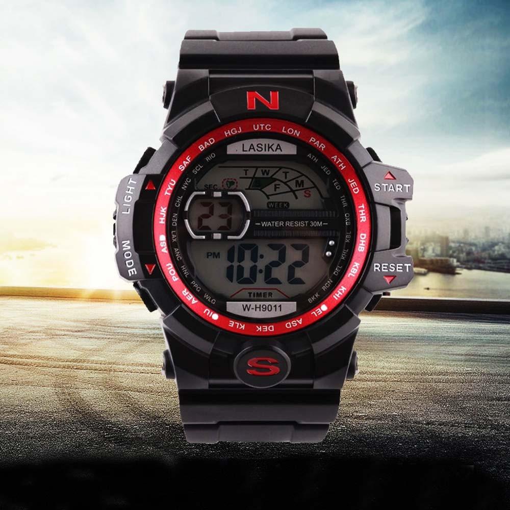 Lasika Mode Casual Männer Uhr Quarz Digitale Sport Uhren Military Silikon Wasserdicht Herren Uhr Handgelenk Uhren Reloj Hombre HöChste Bequemlichkeit Herrenuhren