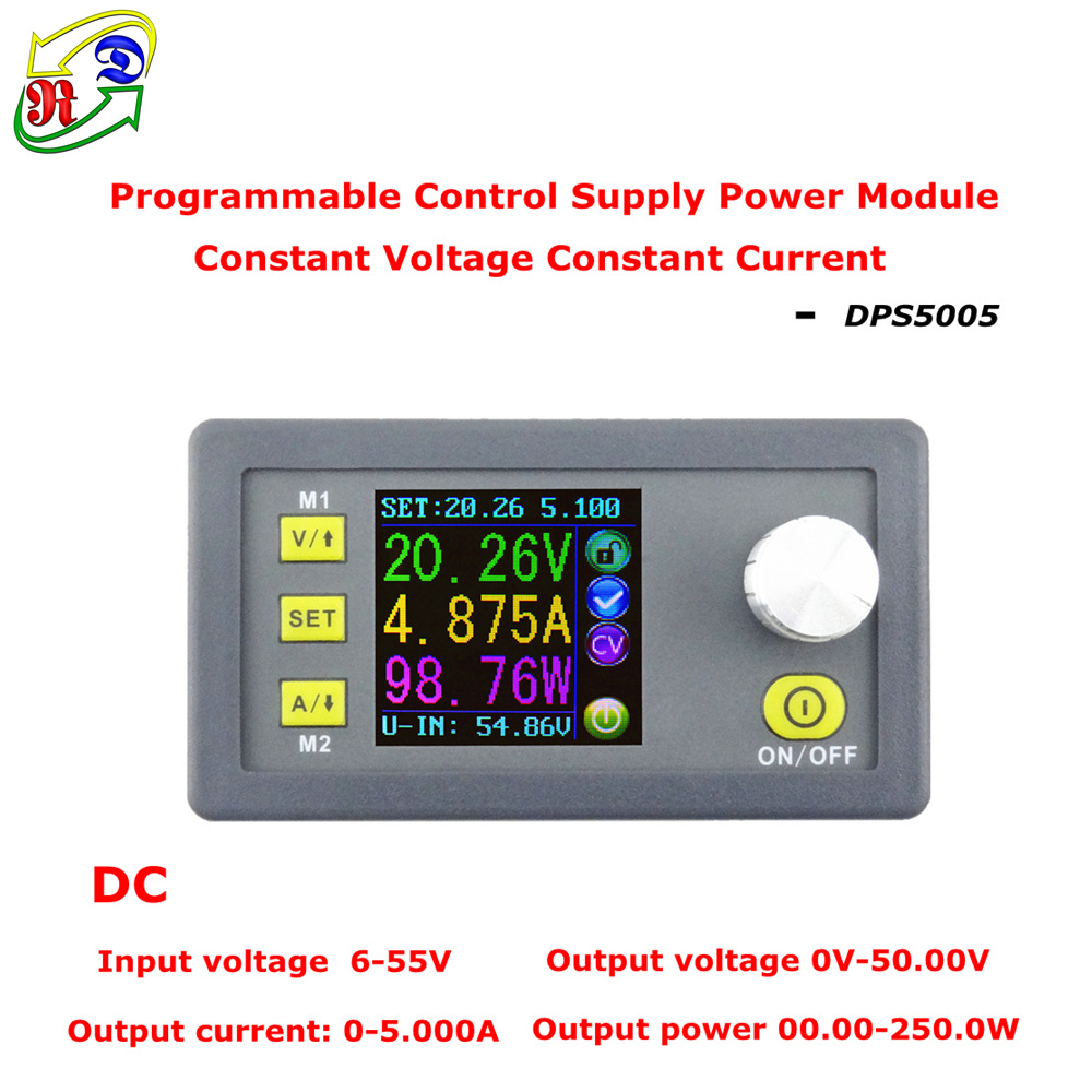 RD DPS5005 Constant Voltage current Step-down Programmable Power Supply module buck Voltage converter color LCD voltmeter